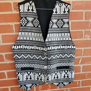 Men's vintage embroidered tribal vest size M/L
